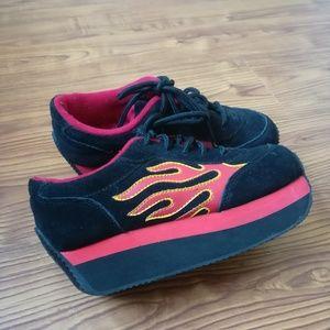 68ac8900d7 Volatile Shoes - Rare vintage flame volatile platform sneakers